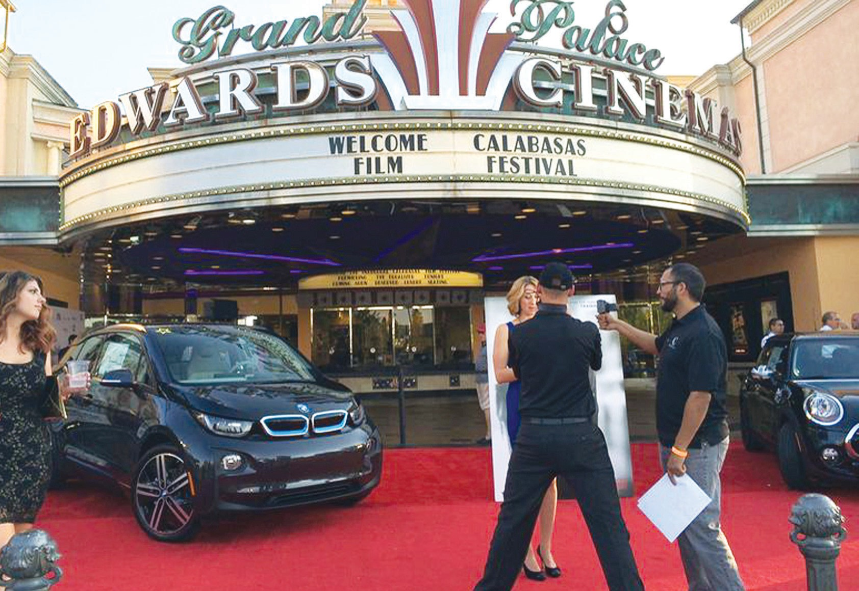 IT'S SHOW TIME—The Edwards Cinema bustles with activity as the curtain goes up on a recent festival. Courtesy of Calabasas Film Festival.
