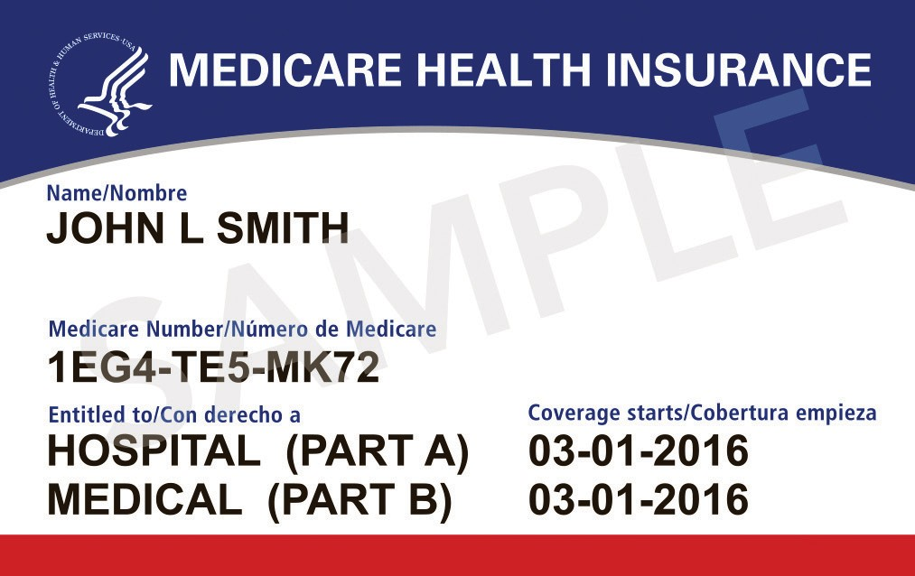 COMING IN APRIL 2018—An example of the new Medicare card.