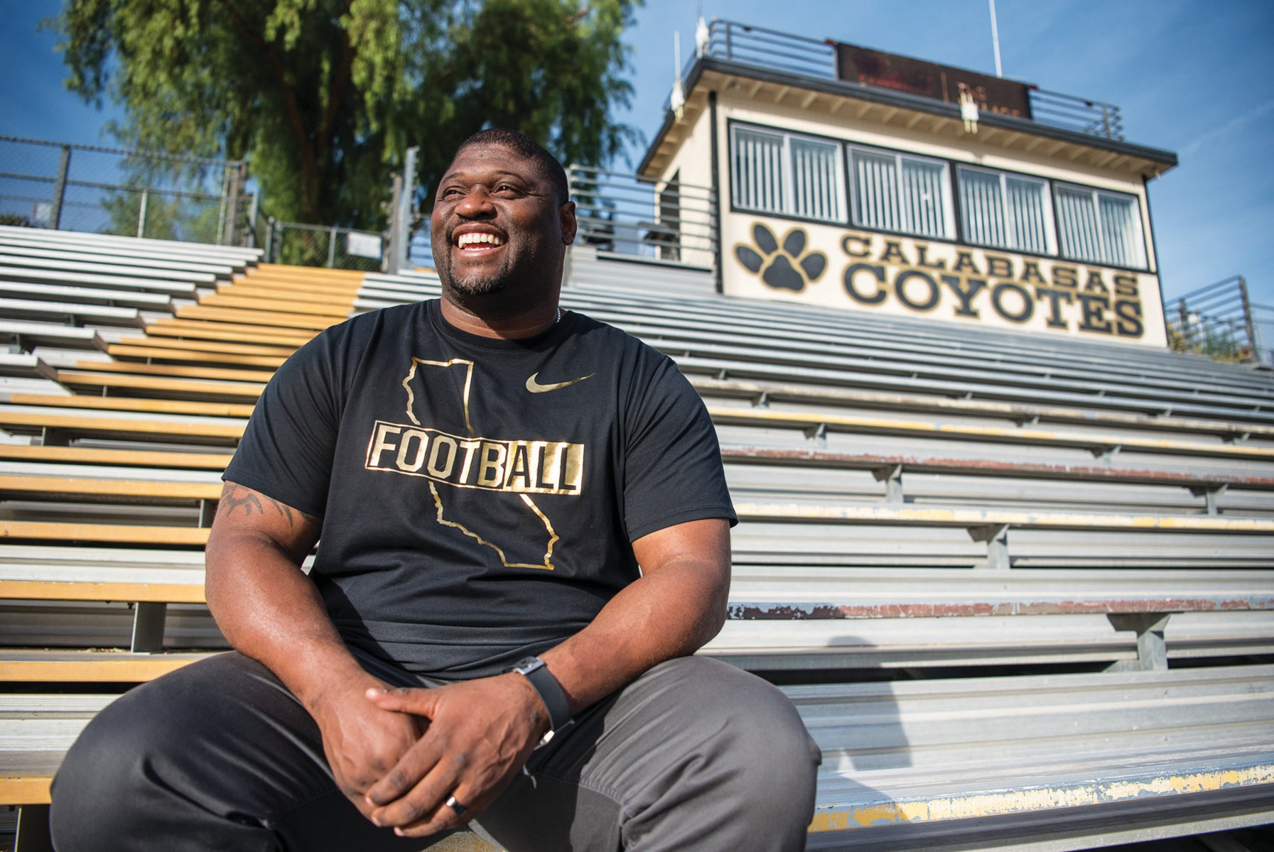 ALL-AMERICAN—Chris Claiborne, 39, is expected to be officially named the new head coach of the Calabasas High football team on Jan. 9. MORGAN LIEBERMAN/Acorn Newspapers