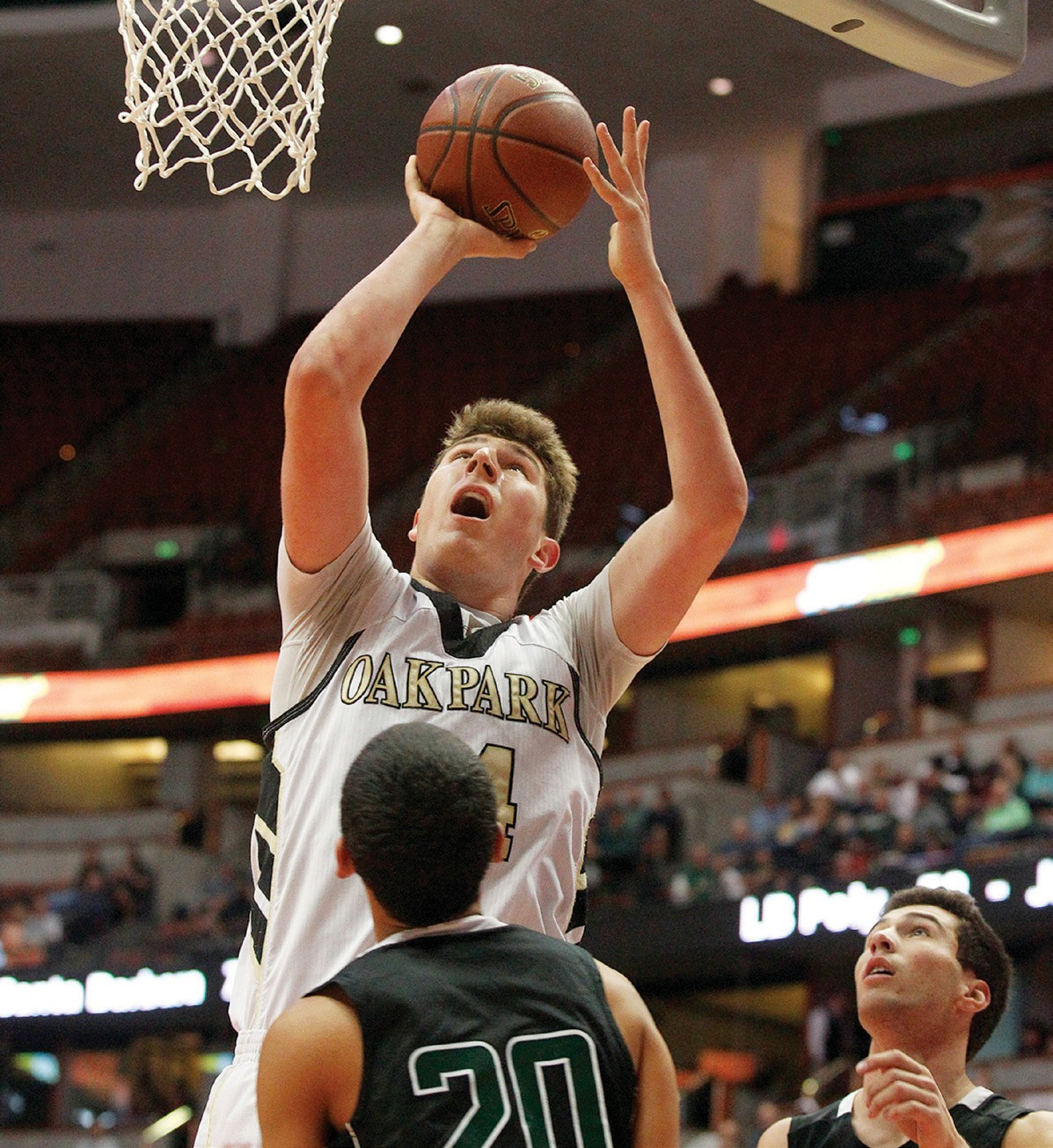 TOWERING ABOVE THE COMPETITION—Riley Battin of Oak Park is Ventura County's all-time leading scorer in boys' basketball. RICHARD GILLARD/Acorn Newspapers