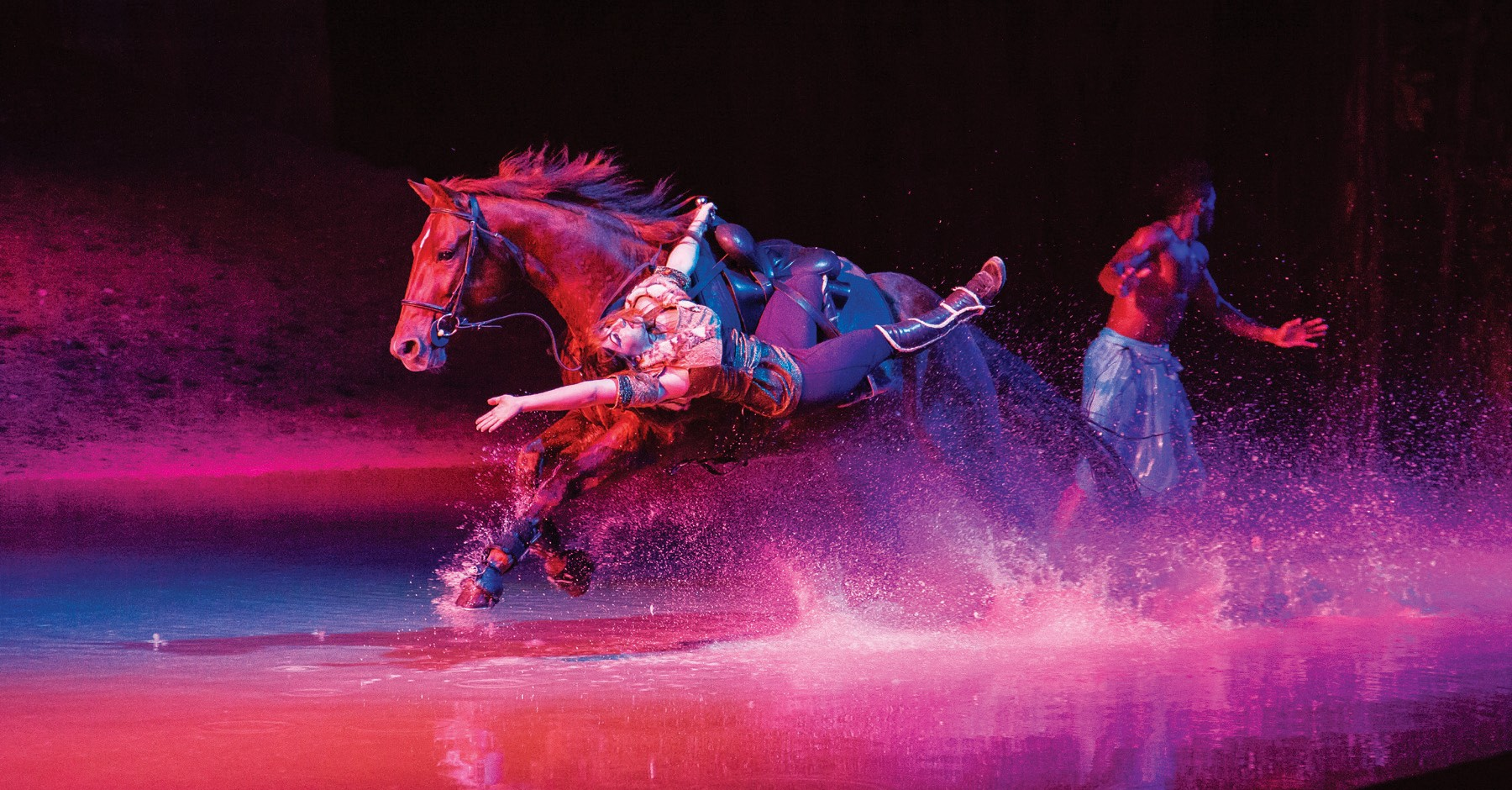 "DAZZLING—Horses and riders demonstrate their showmanship in ""Odysseo,"" an all-ages equestrian show running through this month under a big top tent in Camarillo."