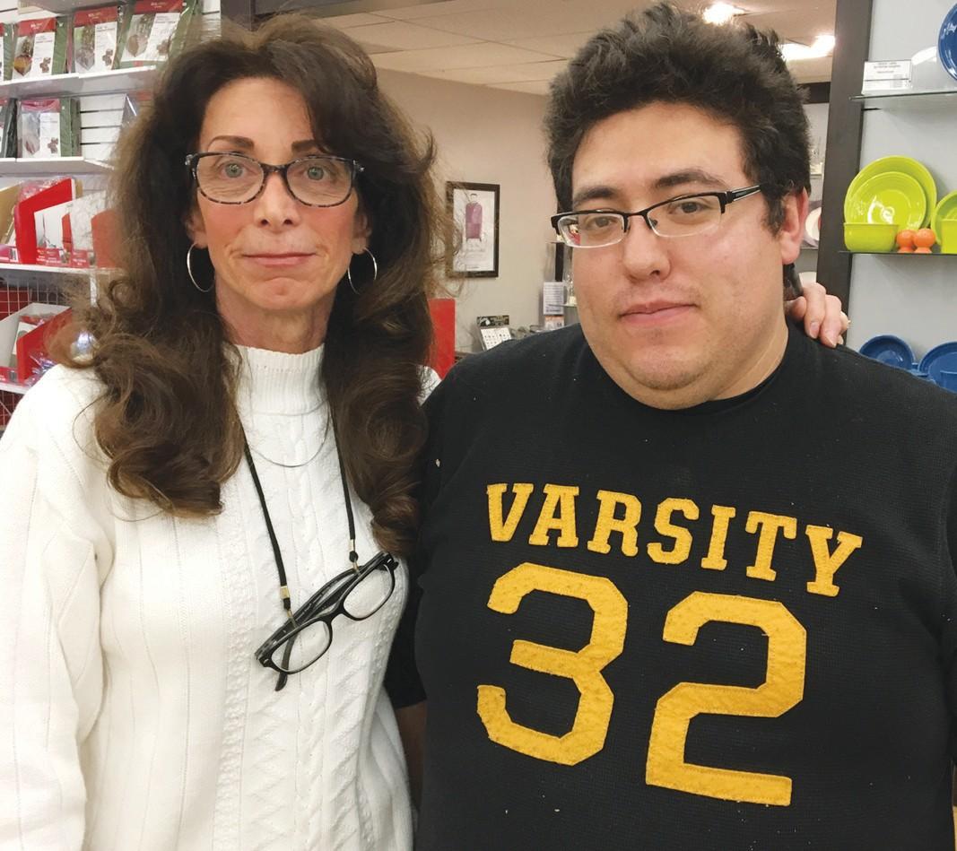 TEAM—Teresa Johnson and Yoshio Ruiz-Almaraz were at the scene and helped the driver. BECCA WHITNALL/Acorn Newspapers
