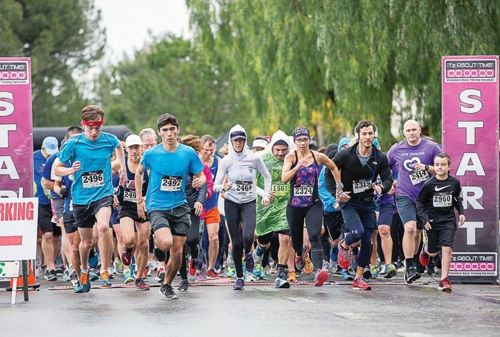 REMEMBER LAST YEAR?—It was a cool, rainy day at the ninth running of the Westlake Village Pancreatic Cancer Research Run/Walk in 2017. This year's event will be Sat., Feb. 24 at Westlake Village City Hall. Acornfile photo
