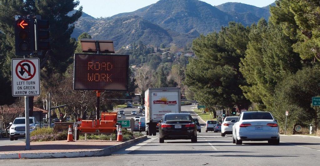 DELAYSFeb082018_AHEAD?—Acorn 4Colx13Caltrans2/6/18began11:32 AMworkPagethis1 week on a project to repair the damaged sidewalks on Westlake Boulevard. RICHARD GILLARD/Acorn Newspapers