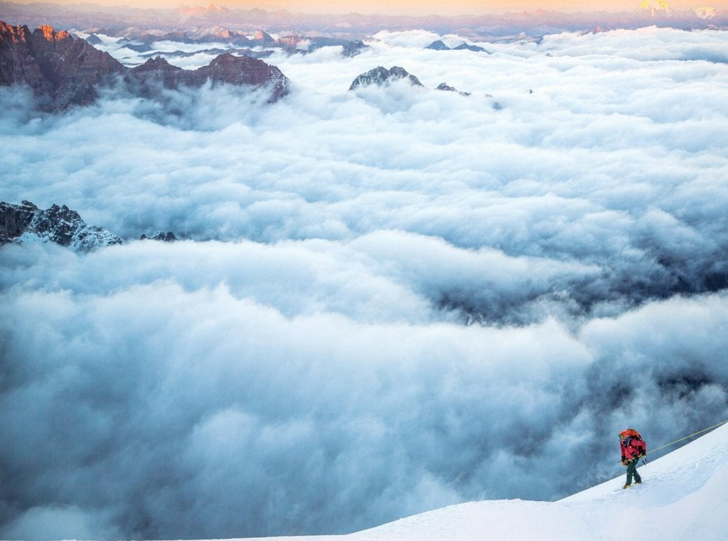 AT THE TOP OF THE WORLD—In the fall of 2014, afive-person team from National Geographic set out to summit the obscure Hkakabo Razi peak in Myanmar to determine if it is Southeast Asia's highest point. Leader of the expedition, extreme mountain skier Hilaree O'Neill, will recount the adventure in a program Fri., March 9 at the Thousand Oaks Civic Arts Plaza. Courtesy ofNational Geographic