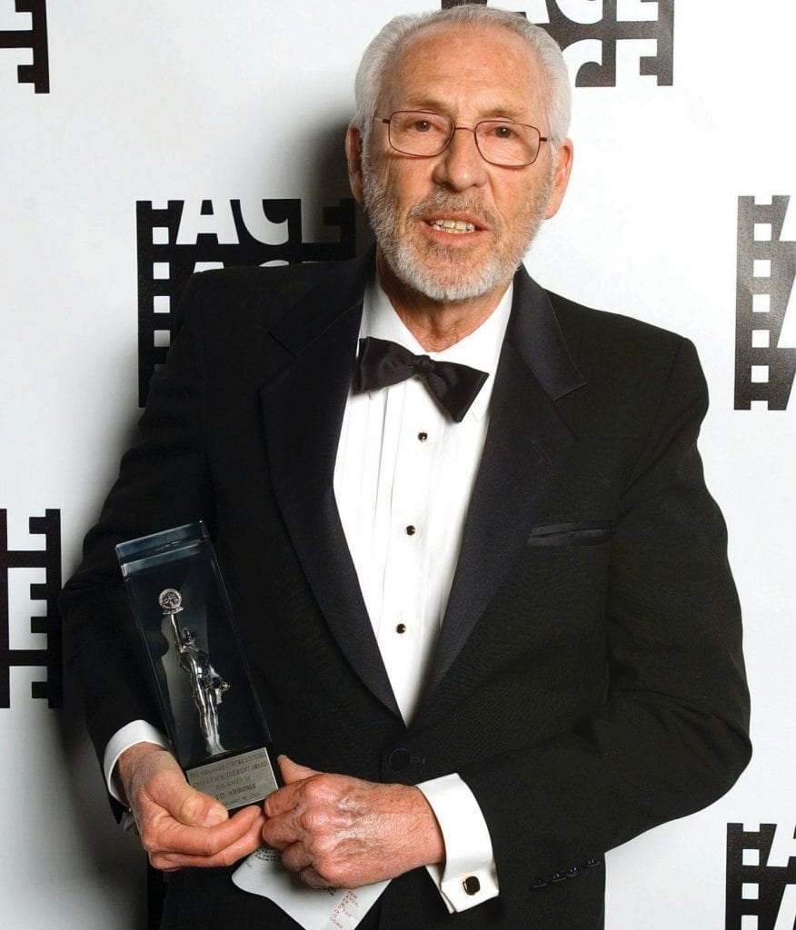 IN MEMORY—Emmy winner and Oscar nominee film editor and director Edward M. Abroms of Thousand Oaks receives an award. Courtesy photo