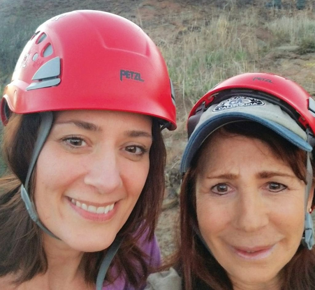 OFF TRAIL—Robin Breman, left, and Wendy Gerber took a wrong turn on a recent hike. Could their situation have been prevented?