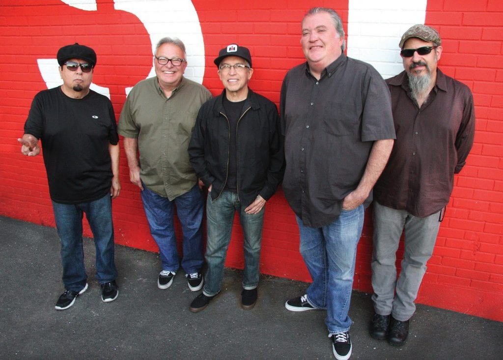 ON FIRE—The Grammy Award-winning band Los Lobos from East L.A. will bring its blend of old-school rock and traditional Mexican music to the Thousand Oaks Civic Arts Plaza on March 17. Courtesy photo