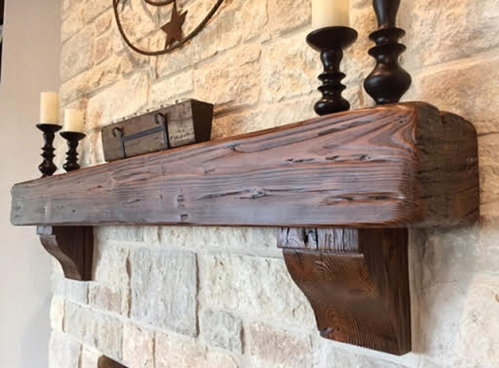 COZY COMFORT—A walnut mantel and corbels produced by Rustic Wood Accents, one of the many venders scheduled for the Conejo Valley Home Remodeling Show April 14 and 15 in Westlake Village. Courtesy photo