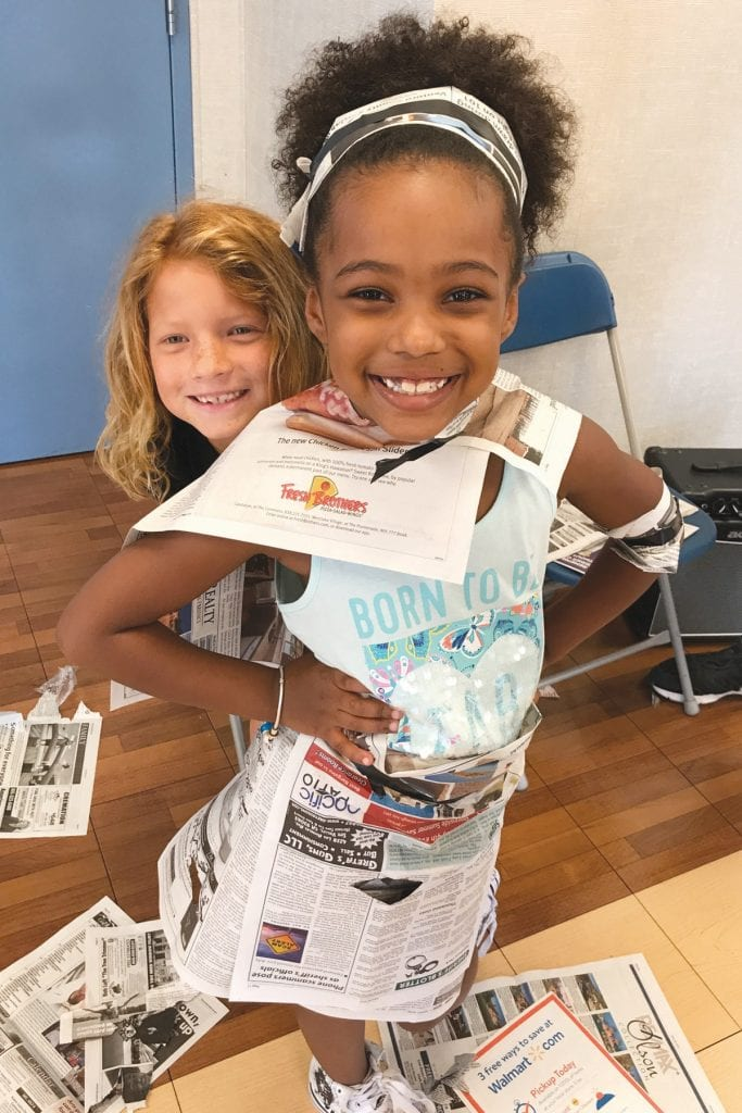 BEST DRESSED—Children get creative with fashion dessing at the Boys & Girls Clubs. The clubs' summer camps offer sports, arts and cats, science and water fun. Courtesy photo