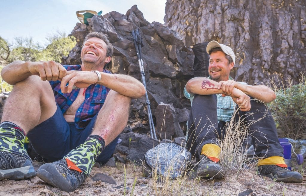 FOOT SOLDIERS—Writer Kevin Fedarko and photographer/filmmaker Peter McBride recount their Grand Canyon adventure. The pair walked the length of the Grand Canyon. Courtesy photo