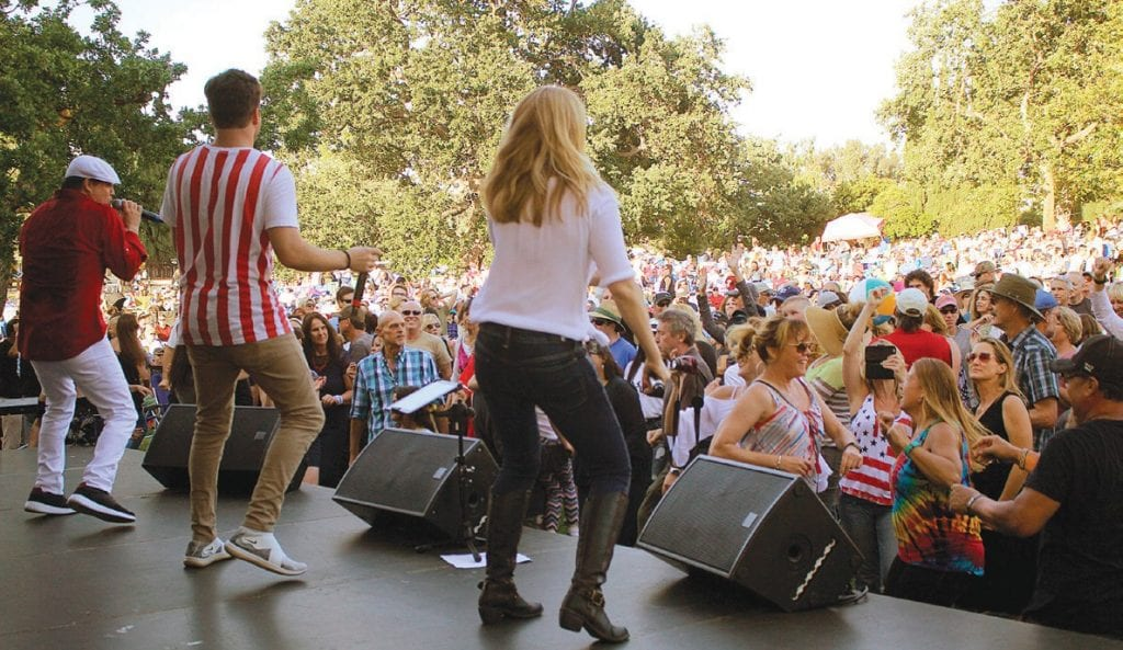 GROOVIN'—LA AllStars entertains the crowd at a previous Summer Concert in the Park in Thousand Oaks. They return this year for July 4. Courtesy of CRPD