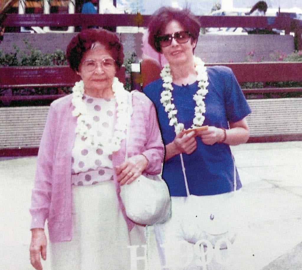 MANY HAPPY RETURNS—Prudence Caballero Peredo, left, and her daughter Carmen in the 1980s. Peredo turned 105 years old on April 28. Courtesy photo