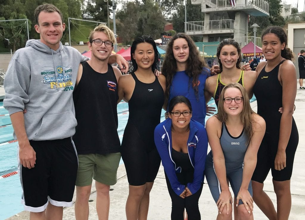 TRIBE CALLED QUEST—Westlake swimmers fared well at the CIF-SS Division 2 meet last weekend. Courtesy of Kathy Clarke