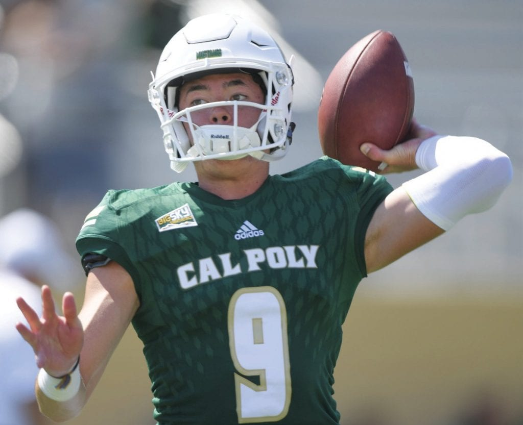 SPIRAL—Cal Poly QB Daniel Prieto will be a junior in the fall. Courtesy of Cal Poly Athletics