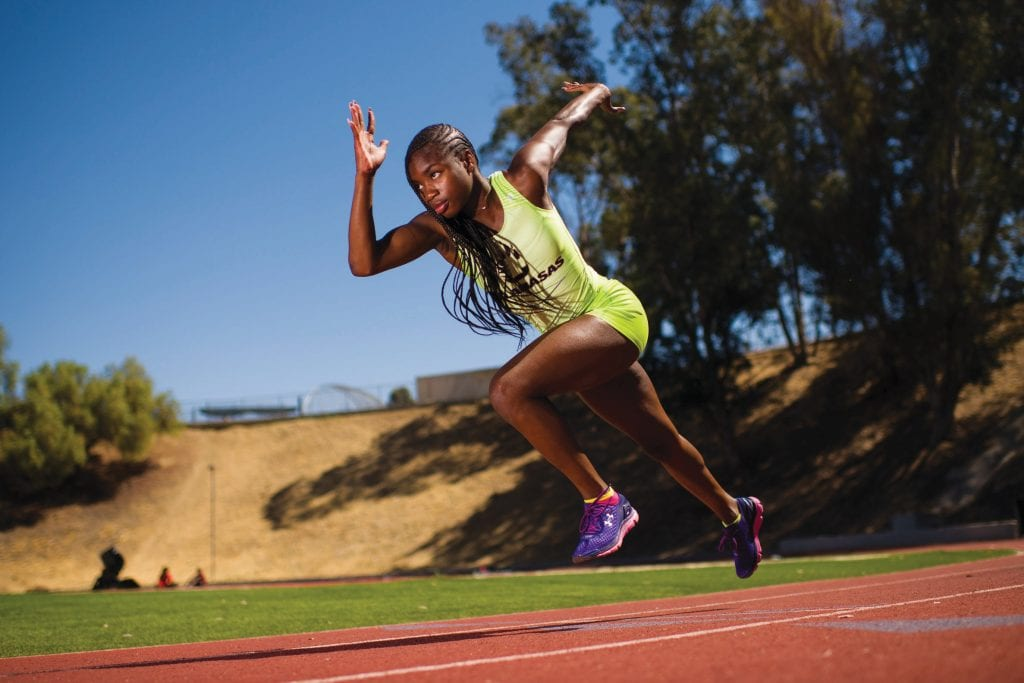 THE FLASH 2.0—Calabasas' De'Anna Nowling won the 100-meter dash at the CIF state meet on June 2.