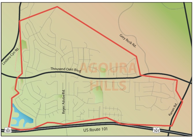 BOUNDARIES—The eruv follows the red line and marks the area where Jews can walk on the Sabbath.