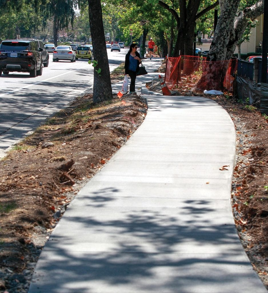 PATH OF LEAST RESISTANCE—A new sidewalk on Westlake Boulevard isfinished and open to the public. But work continues on the sidewalk curb ramps between Triunfo Canyon Road and the 101 Freeway. RICHARD GILLARD/Acorn Newspapers