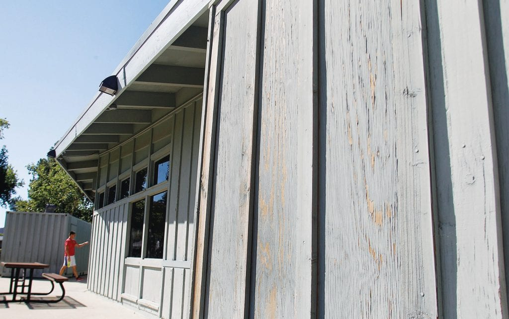 CHIP OFF THE OLD BLOCK— Rancho Simi Recreation and Park District can't afford a full remodel at the Mae Boyar Community Center, but it does plan to repaint the building andfix bathrooms. Acornfile photos