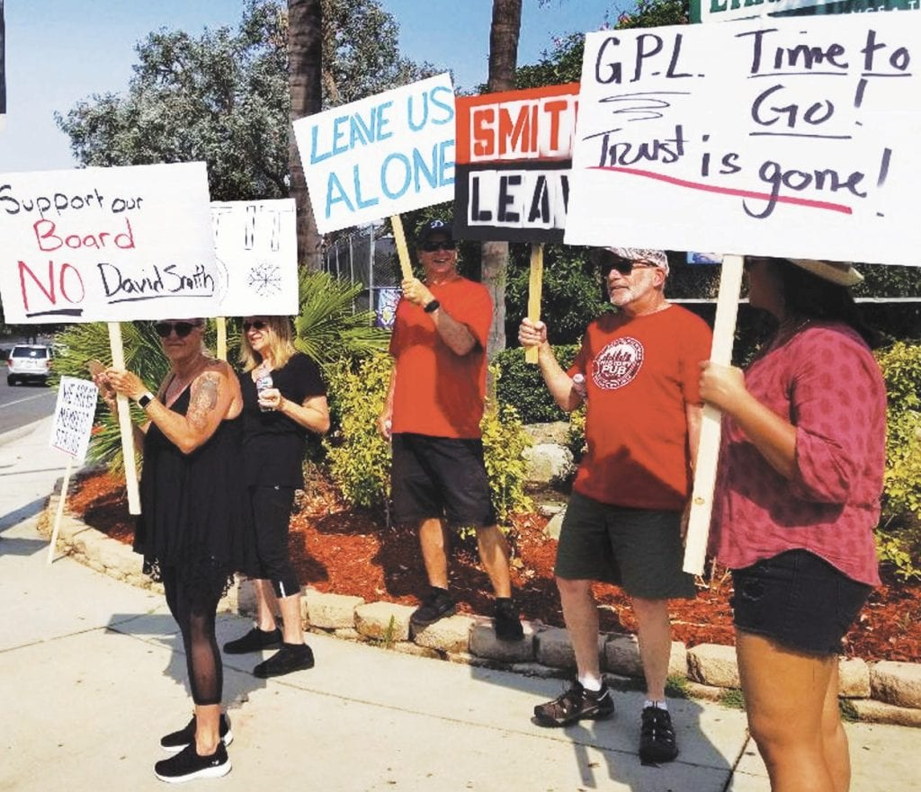 NOT HERE—Residents want the management company to step down. STEPHANIE BERTHOLDO/Acorn Newspapers