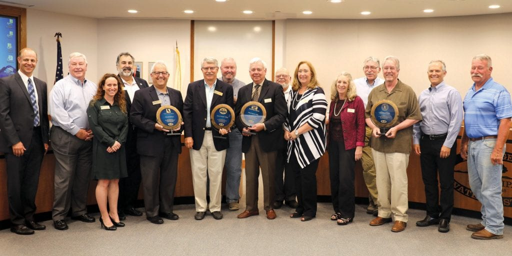 ANNIVERSARY—Celebrating 60 years, LVMWD and its board gives recognition during a recent meeting to the city council members of Calabasas, Westlake Village and Agoura Hills for their partnership in water. Courtesy photo