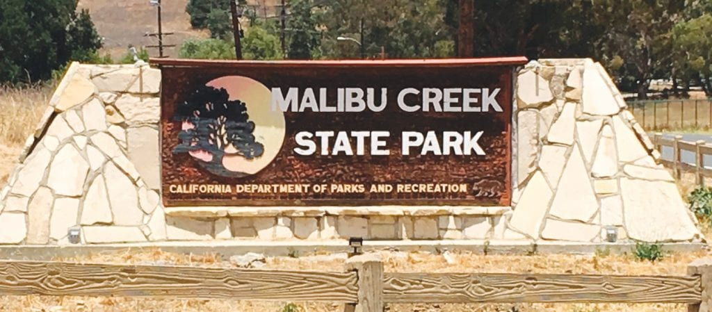 MARKER—The campground at Malibu Creek State Park was the scene of a June 22 murder. The safety of state parks has come into question. Acornfile photo