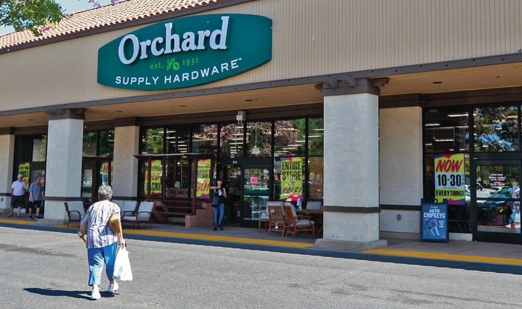 ANOTHER EMPTY STORE—The Orchard Supply Hardware store on Avenida de Los Arboles will close sometime after Oct. 20, OSH parent company Lowe's said this week; 57 employees will lose their jobs as a result. RICHARD GILLARD/Acorn Newspapers