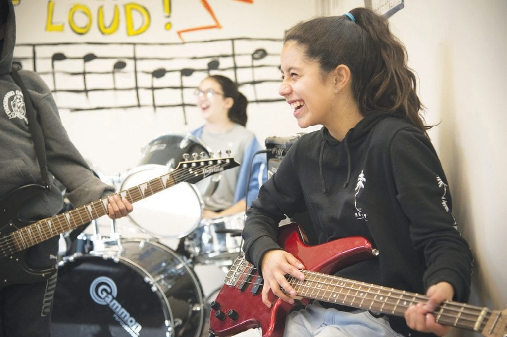 NEVER FRET—The Boys & Girls Clubs of Greater Conejo Valley offer a variety of enrichment programs, including music. The before and after school programs are for kids of all ages and meet at schools in the Las Virgenes and Conejo Valley school districts. Kids can receive homework help and take classes in technology, art, science, cooking, robotics, drama and sports. For more information and registration, go to bgcconejo.org. Courtesy photo