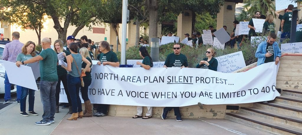 SPEAKING OUT—Residents are upset about the light and noise coming from a pair of entertainment businesses in Triunfo Canyon. These protestors came out last week in support of the venues. IAN BRADLEY/Acorn Newspapers