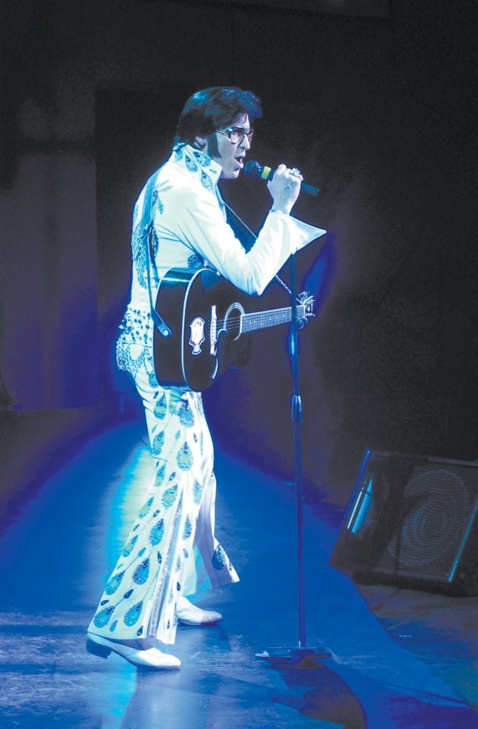 THE KING—Elvis tribute artist Raymond Michael will perform to support county's foster youth. Courtesy photo