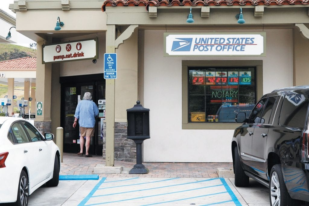 NO MORE DELIVERY—The small post office on Las Virgenes Road in west Calabasas is closing in July. RICHARD GILLARD/Acorn Newspapers