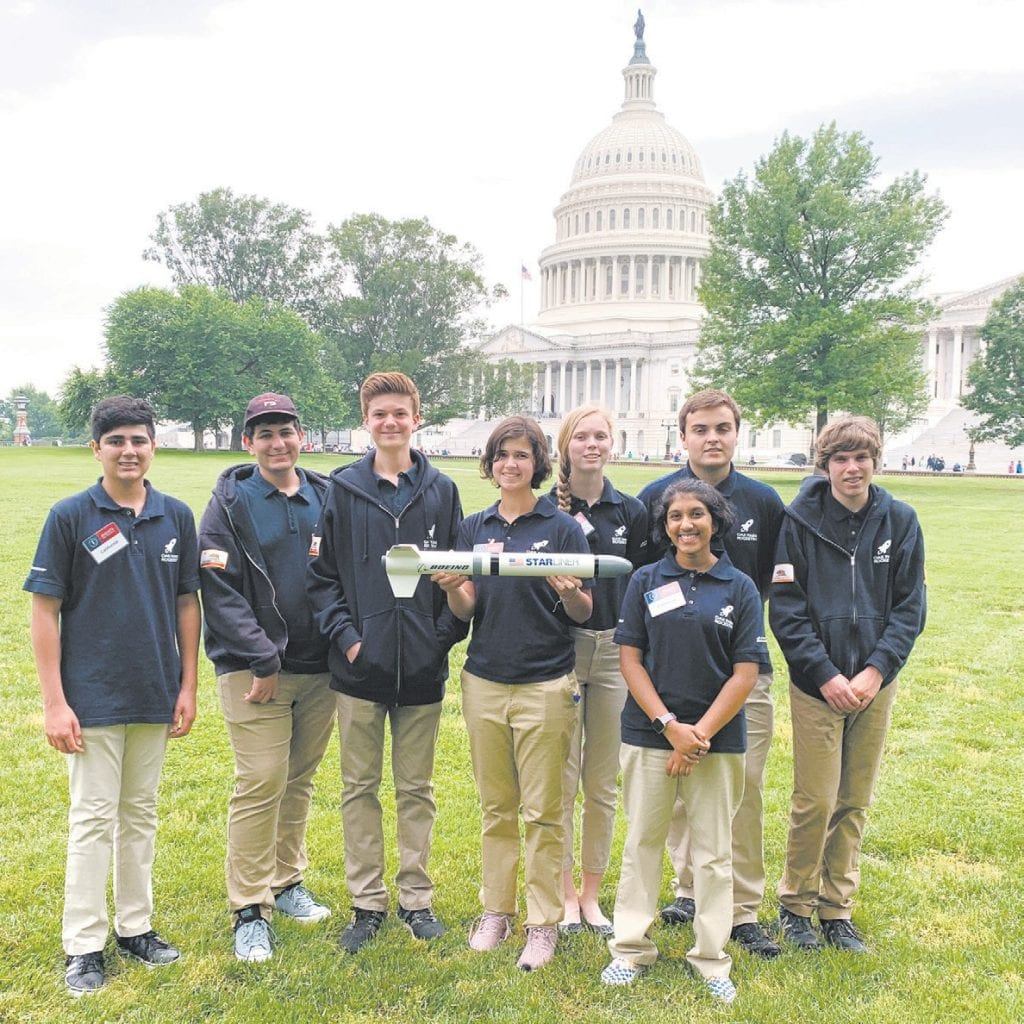 SKY HIGH—The OPHS Aviation and Rocket Team in the nation's capital. Courtesy photo