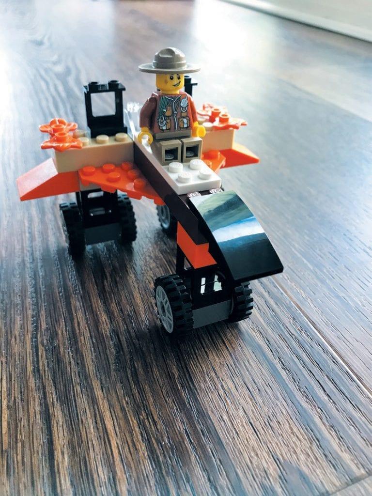 ROCKET RANGER—Robert built a ranger in a rocket going to outer space. Created by Robert Rosenberg