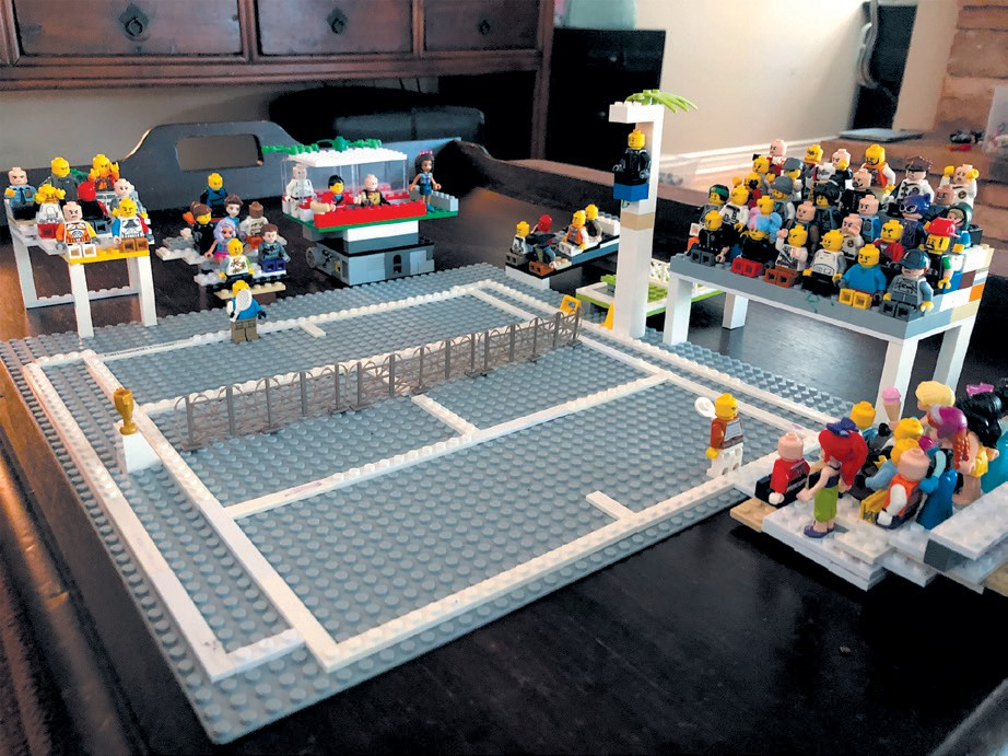 LOVE-LOVE—Every year this family goes to the tennis tournament at Indian Wells, but this year the event was canceled, so the 6-year-old builder made a Lego version of the Indian Wells Tennis Garden. Created by Jae Solorzano