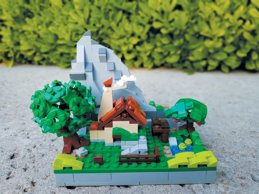 MINI LINK ABODE—A microscale model of Link's House from The Legend of Zelda: Breath of the Wild. Created by Andrew Wagner