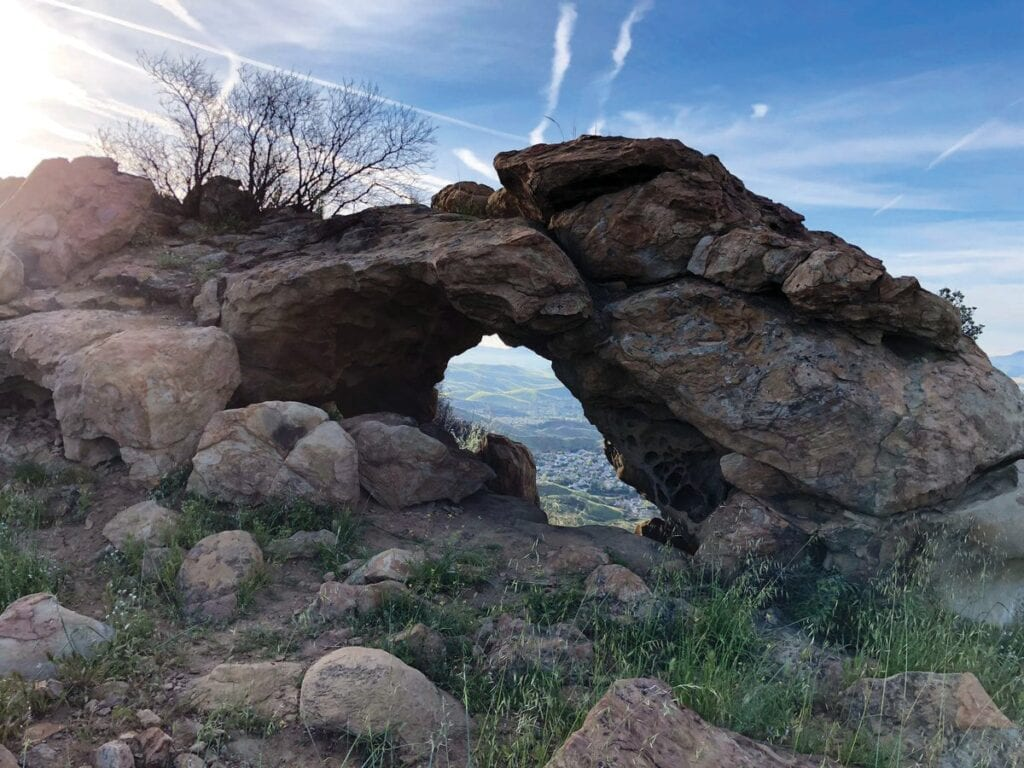 COOL GEOLOGY—Adjacent to the Santa Monica Mountains National Recreation Area lies this interesting rock formation at Oakbrook Regional Park near Oak Park. The mountains are governed by a patchwork of inter-agency cooperation, all with the goal of keeping open space preserved and resources protected.