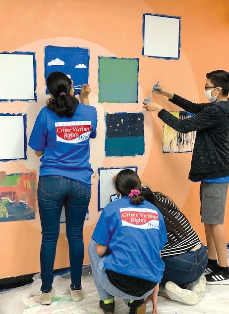 ARTISTS IN ACTION—Camp Hope campers get their creativity on by painting a wall mural at the Ventura County Family Justice Center, 3170 Loma Vista Road, Ventura.