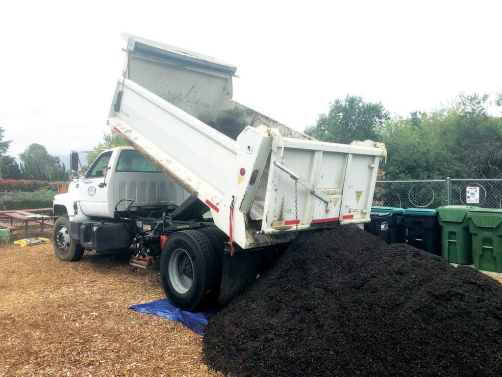 COME AND GET IT—Free high-quality compost, suitable for home and community gardens, is available for pick up Saturday mornings at the Rancho Las Virgenes Composting Facility.